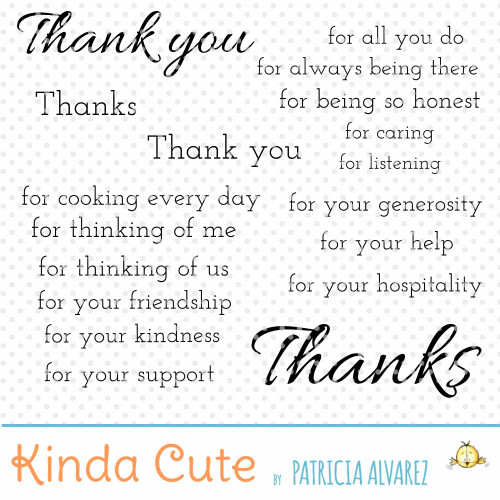 Thank you Sentiments Basics Digital Stamp Set