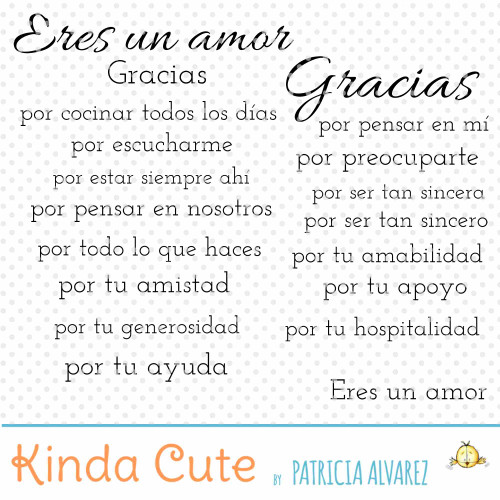 Gracias Sentiments Basics Digital Stamp Set