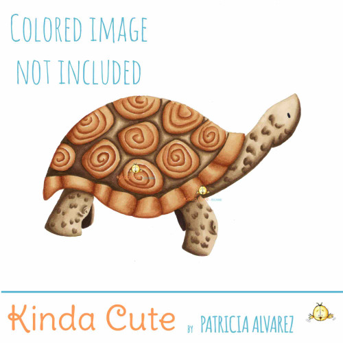 Tortoise Digital Stamp