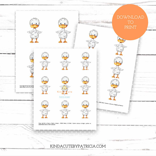 Little duck colored printable pages