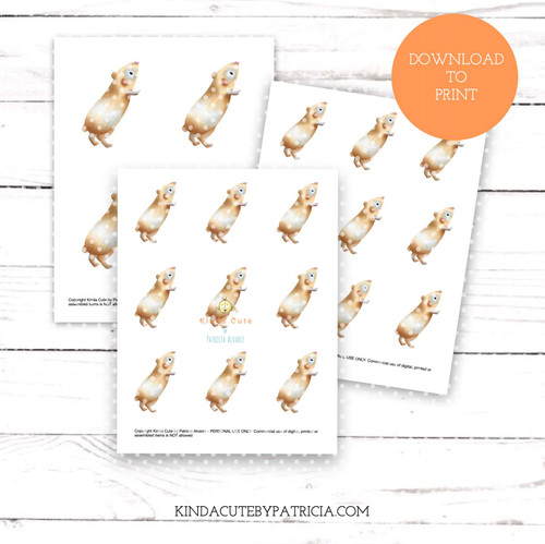 Guinea pig colored printable pages