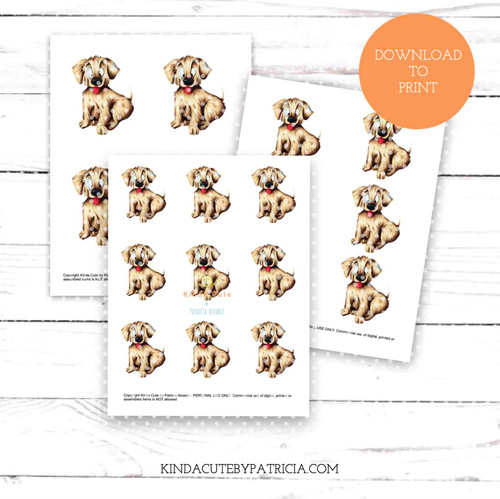 Happy Dog colored printable pages