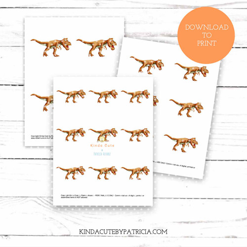T-Rex colored printable pages