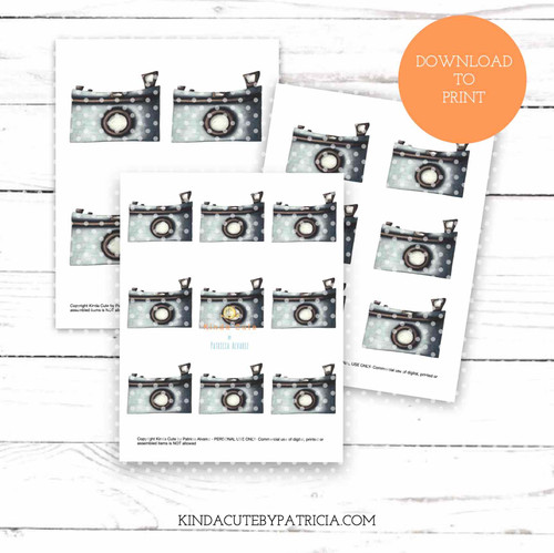 Photo Camera colored printable pages
