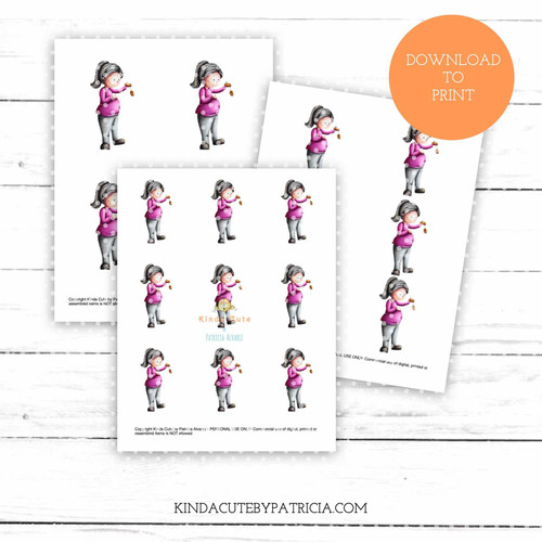 Pregnant woman colored printable pages