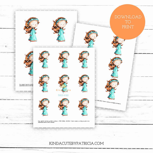Medieval princess colored printable pages.