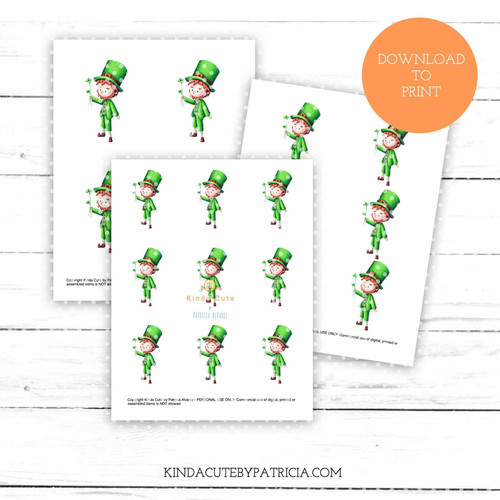 Leprechaun colored printable pages