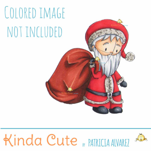 Santa Claus Sketch digital stamp