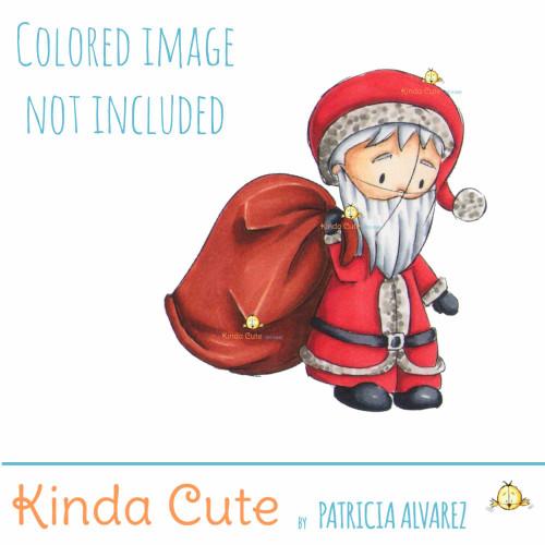 Santa Claus Sketch digital stamp