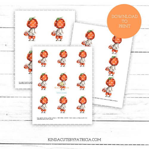 Pumpkin head colored printable pages