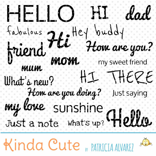Hello Sentiments Digital Stamp Set