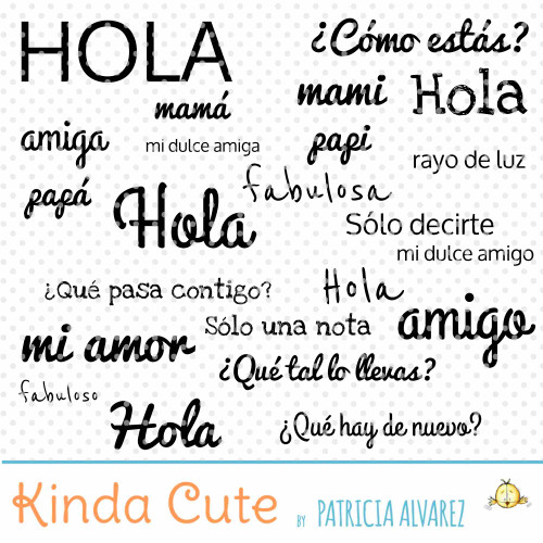 Hello Basic Sentiments in Spanish Digital Stamp Set