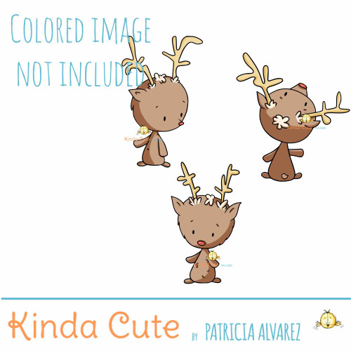 Reindeer Digital Stamp Set