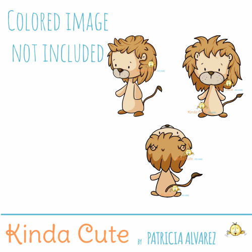 Lion Digital Stamp Set