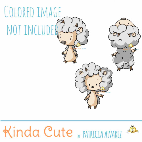 Sheep Digital Stamp Set
