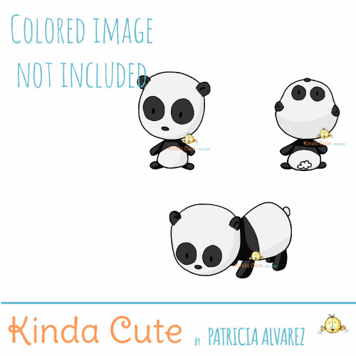 Panda Bear Digital Stamp Set