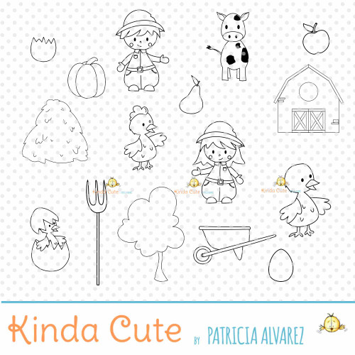 Farm Bundle Digital Stamp Set