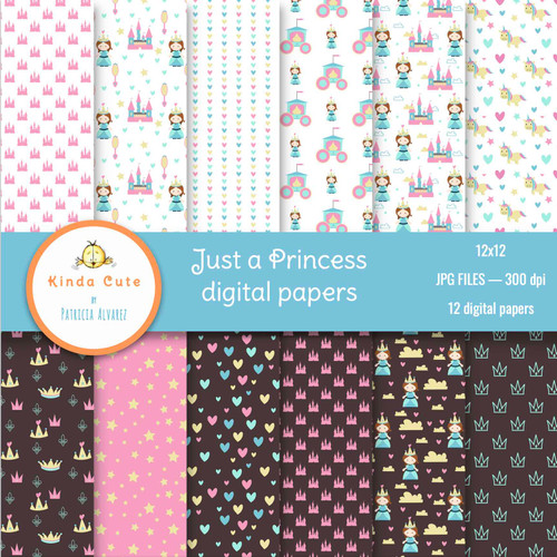 Just a Princess Digital Paper Pack