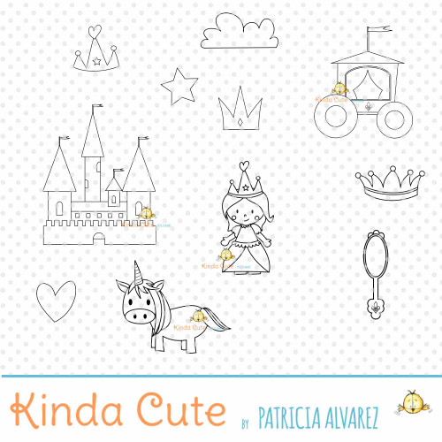 Princess Bundle Digital Stamp Set