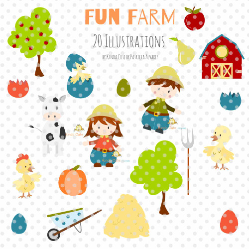 Farm Fun Digital Clipart