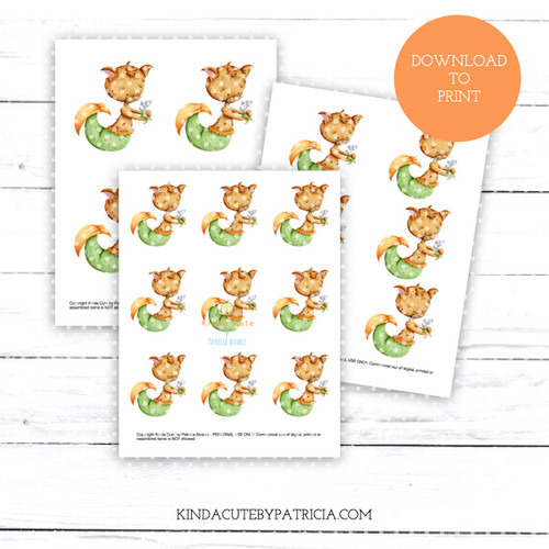 Mer Cat and Mer Mouse Colored Printable Pages