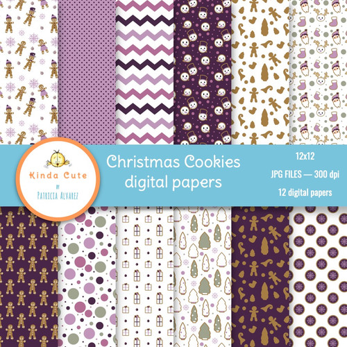 Christmas Cookies Digital Paper Pack