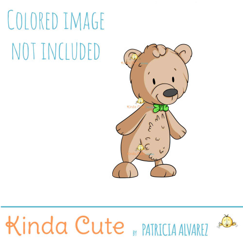 Bear with a Bowtie Digital Stamp