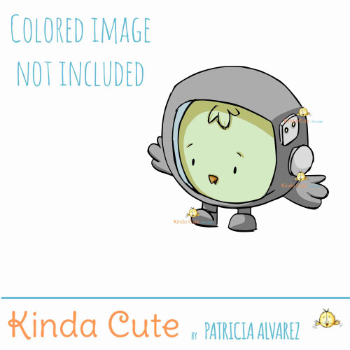 Chicken Astronaut Digital Stamp