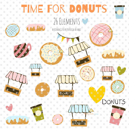 Donut digital clipart