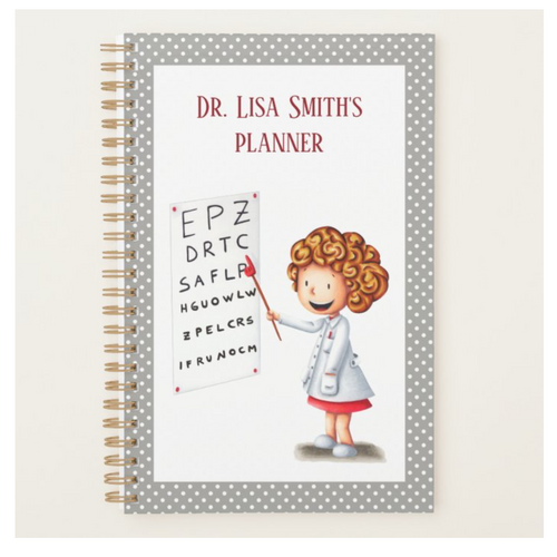 Customizable planner with a doctor in the cover