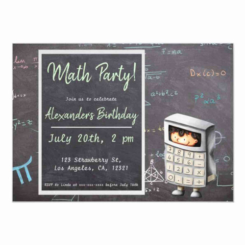 Copy of Elegant pink and gold gymnastics themed magnetic invitation