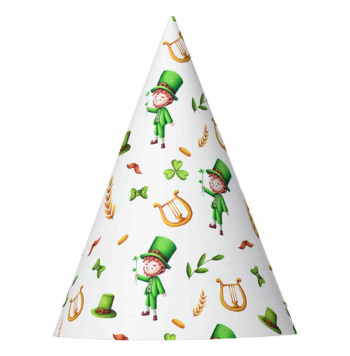 Irish leprechaun green and yellow St. Patrick's Party Hat
