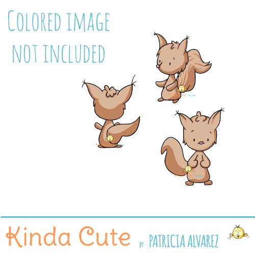 Squirrel Digital Stamp Set