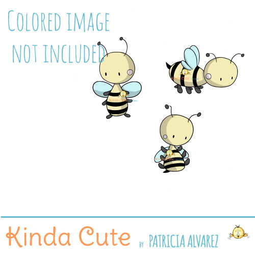 Bee Digital Stamp Set