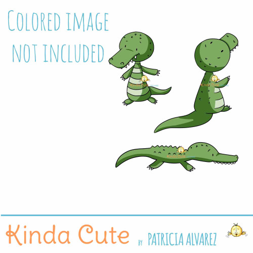 Crocodile Digital Stamp Set