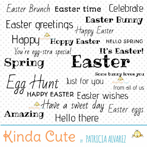 Easter Sentiments Basics Digital Stamp Set