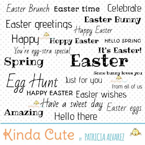 Easter Sentiments Basics Digital Stamp Set