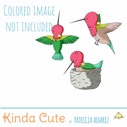 Hummingbird Digital Stamp Set