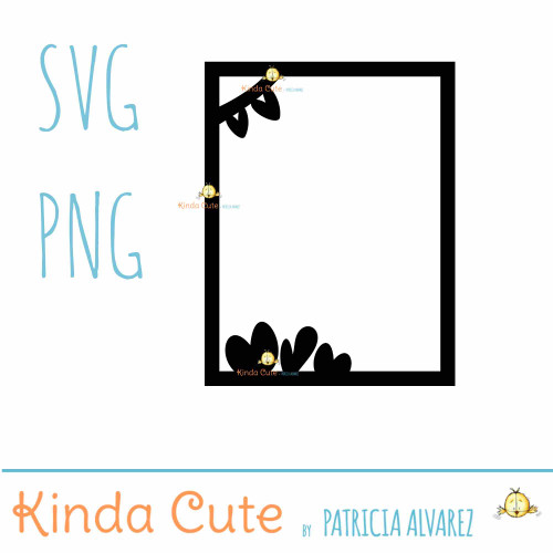 Frame with Hearts SVG cutting file