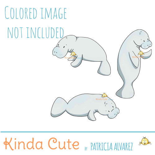 Manatee Digital Stamp Set