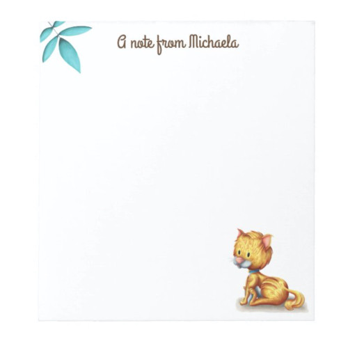 Cute Cat lover personalized stationery Notepad