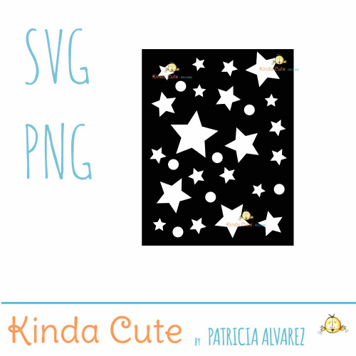 Stars Card Front SVG cutting file
