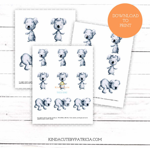 Koala colored printable pages