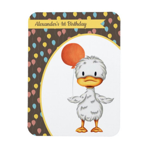 Little Duckling Personalized First Birthday Magnet