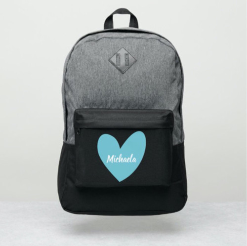 Blue Big Heart Personalized Port Authority® Backpack