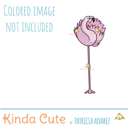 Elegant Flamingo Digital Stamp