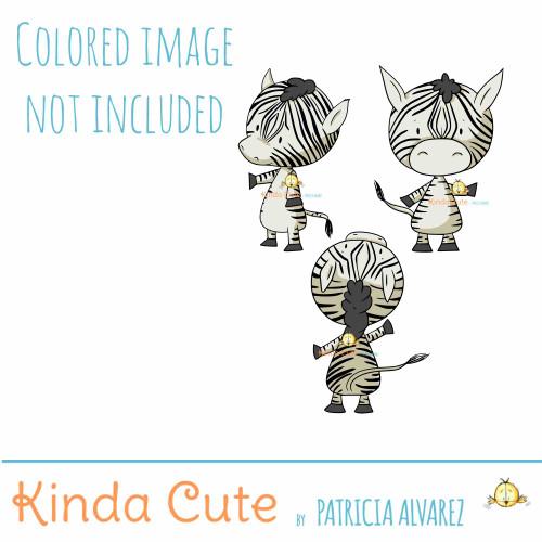 Zebra Digital Stamp Set