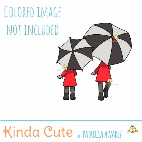 Rainy Day Digital Stamp
