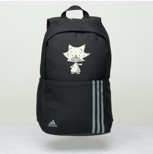 Baby Triceratops Dinosaur Personalized Adidas Backpack