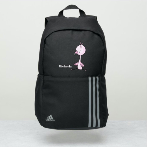 Adorable Pink Flamingo Personalized Adidas Backpack